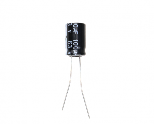 100 uF 63V Through Hole Electrolytic Capacitor (Pack of 30)