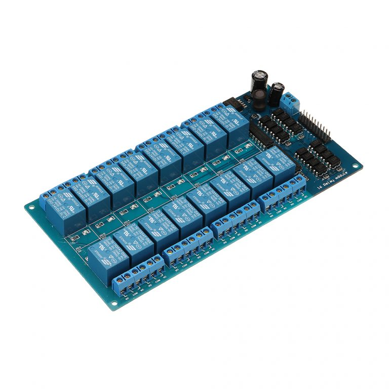 24V 16 Channel Relay with Light Coupling