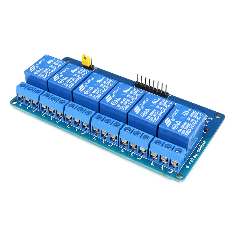 24V 6 channel with light coupling relay