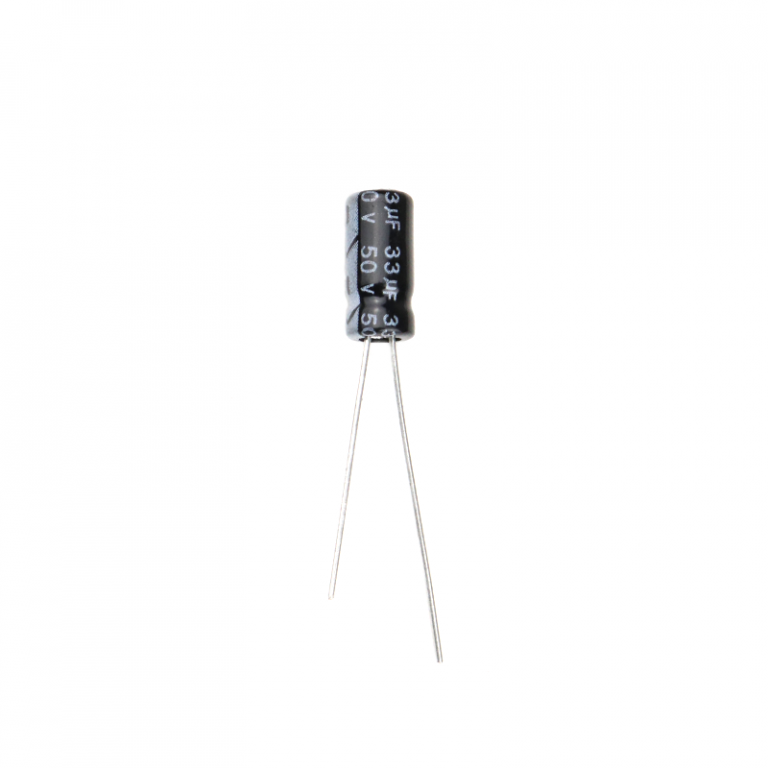 33 uF 50V Through Hole Electrolytic Capacitor (Pack of 40)