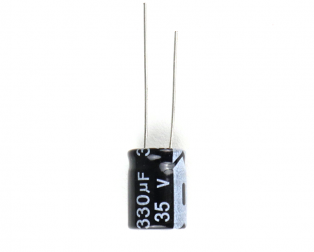 330 uF 35V Through Hole Electrolytic Capacitor