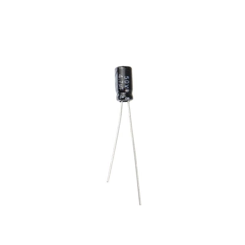 4.7 uF 50V Through Hole Electrolytic Capacitor (Pack of 40)