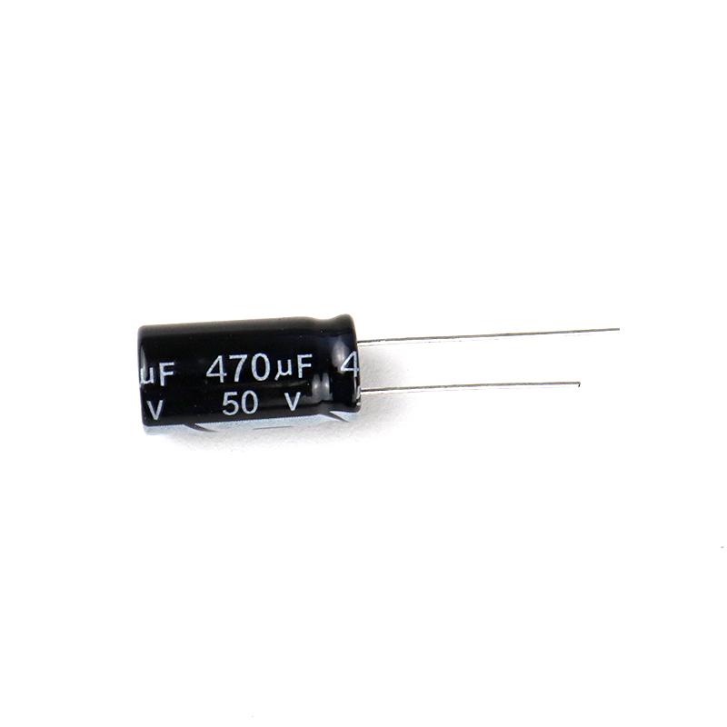 470 uF 50V Through Hole Electrolytic Capacitor