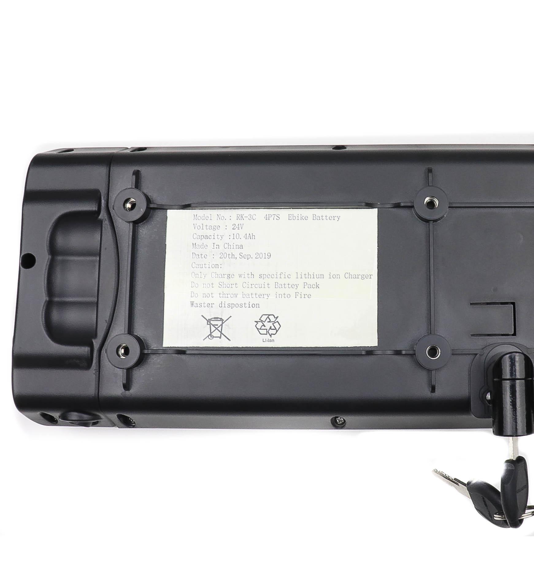 4P7S 24V 10.4Ah Lithium-ion Ebike Battery