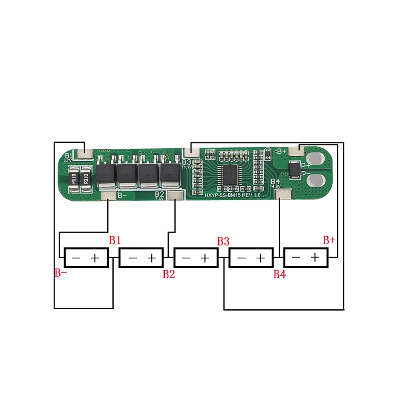 5S 25A 18650 Lithium Battery Protection Board