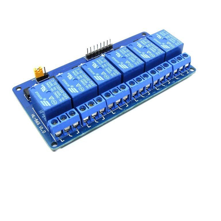 5V 6 Channel Low Level Relay Module with Light Coupling