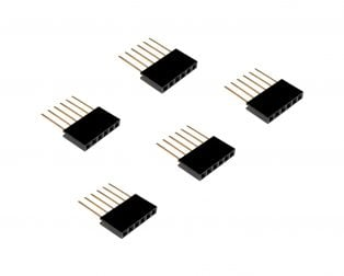 6 Pin Female 11mm tall stackable Header Connector for Arduino