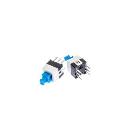 7x7mm 6 Pin DPDT Self-Lock lock Push Switch