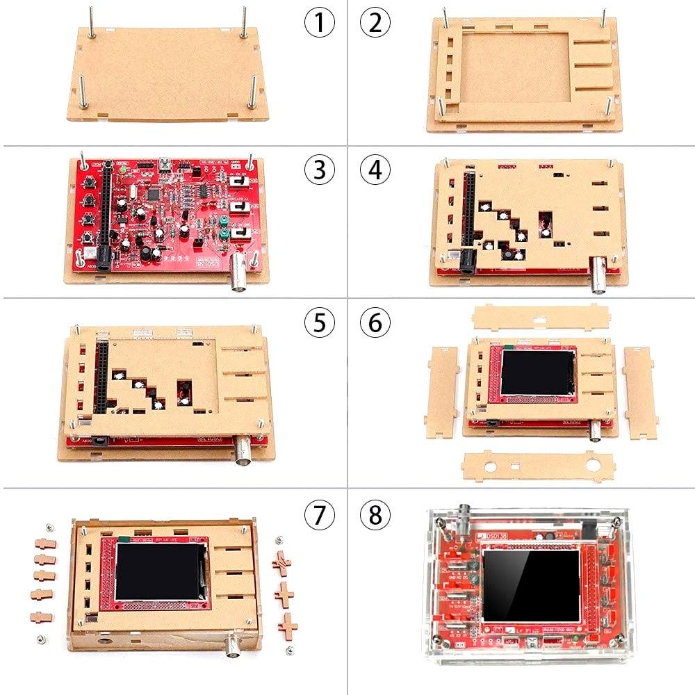 Acrylic Case Setup for DSO138 Oscilloscope