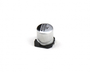 22 uF 25V Surface Mount Electrolytic Capacitor (Pack of 20)