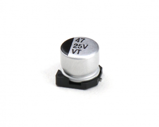 47 uF 25V Surface Mount Electrolytic Capacitor (Pack of 20)