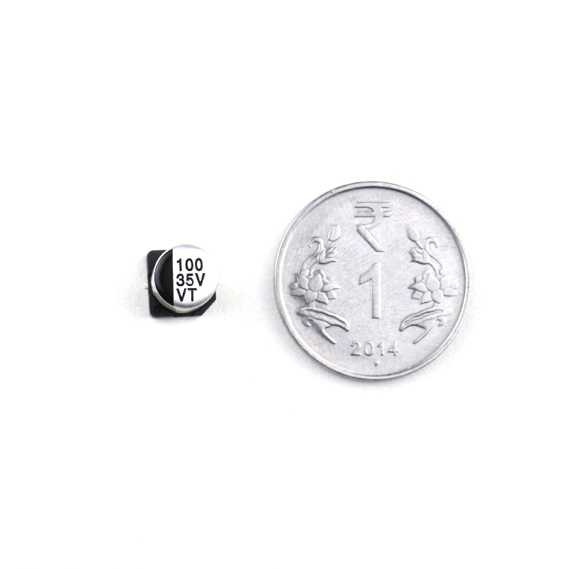 100 uF 35V Surface Mount Electrolytic Capacitor (Pack of 10)