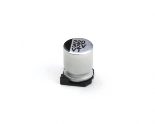 220 uF 35V Surface Mount Electrolytic Capacitor (Pack of 10)
