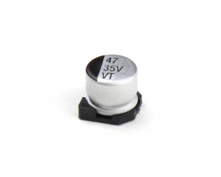 47 uF 35V Surface Mount Electrolytic Capacitor (Pack of 10)