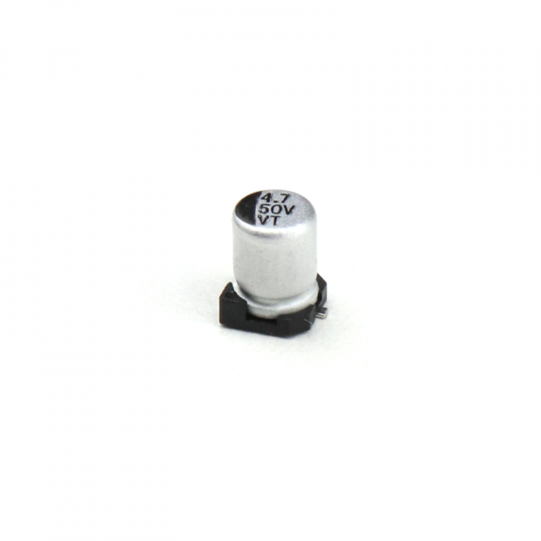 4.7 uF 50V Surface Mount Electrolytic Capacitor (Pack of 20)