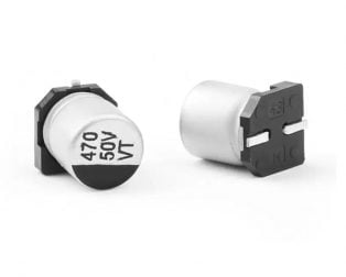 470 uF 50V Surface Mount Electrolytic Capacitor (Pack of 10)