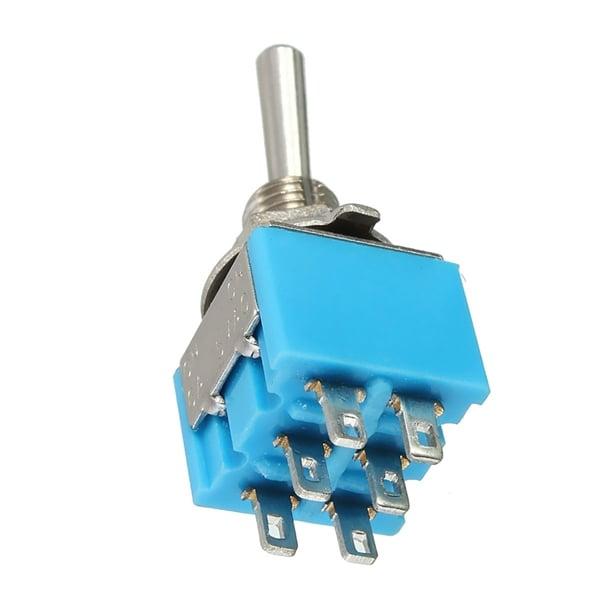 Mini MTS-203 6-Pin DPDT 6A 125VAC Toggle Switch