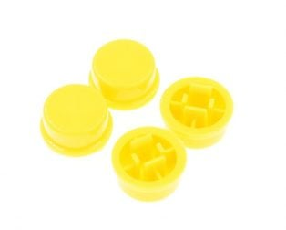 Round Cap for Momentary Tactile Push Button Switch 12x12x7.3mm Yellow