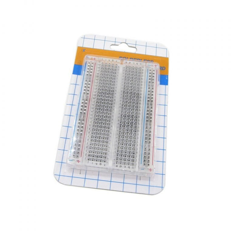 Transparent 400 Points Solderless Breadboard
