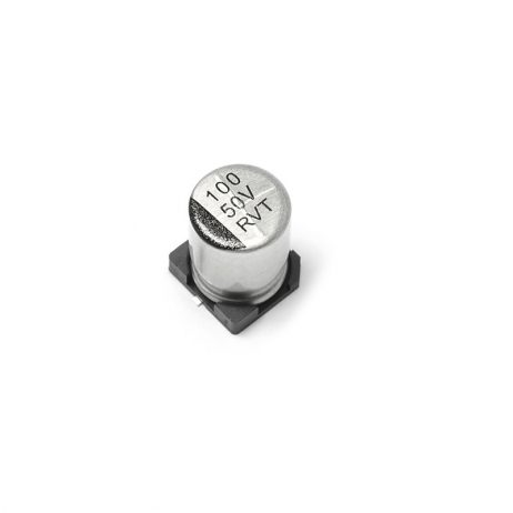 100 uF 50V Surface Mount Electrolytic Capacitor (Pack of 10)