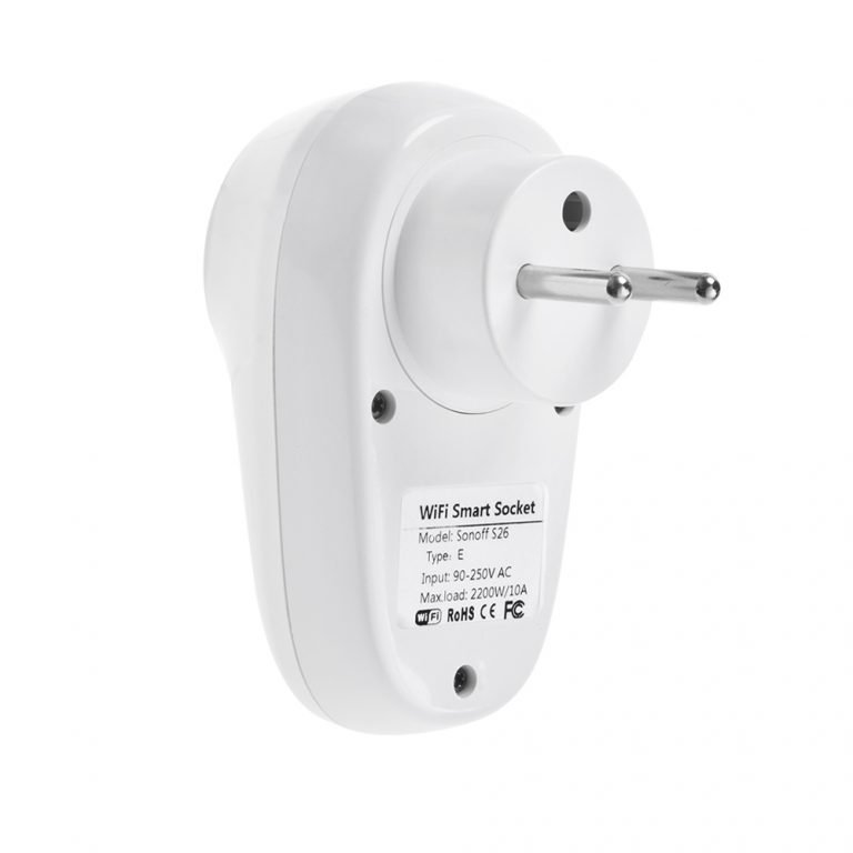 Sonoff S26 WiFi Smart EU Plug Type E