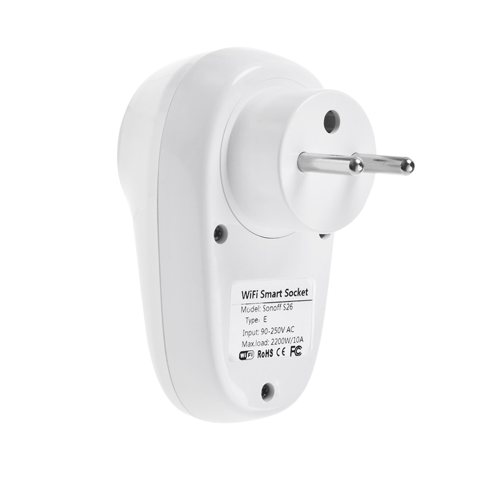 Sonoff S26 WiFi Smart EU Plug Type E