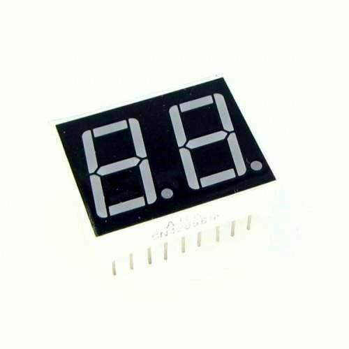 0.56 inch Red 2 Digit 7 Segment LED Display CC 18pin-2Pcs.