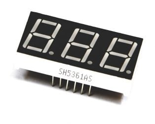 0.56 inch Red 3 Digit 7 Segment LED Display CC 12pin