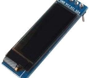 0.91 inch I2CIIC Serial 4-Pin OLED Display Module-WHITE