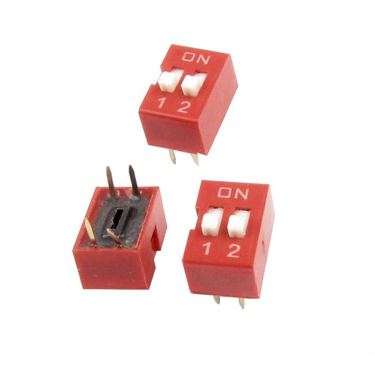 2.54mm Pitch 2 Way DIP Slide Switch