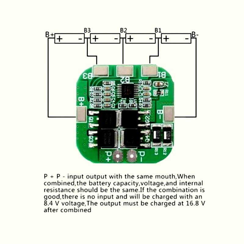 4S 15A 18650 Lithium Battery Protection Board