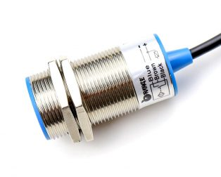 Orange 15mm NPN Inductive Proximity Sensor