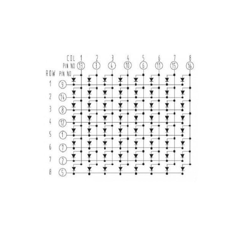 8x8 64 LED Dot Matrix Display
