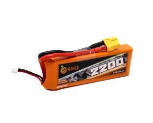 Orange 2200mAh 2S 45C Lithium Polymer Battery Pack (LiPo)