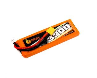 Orange 3300mAh 2S 25C (7.4V) Lithium Polymer Battery Pack