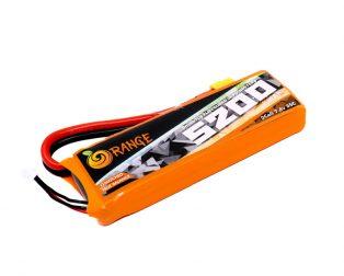 Orange 5200mAh 2S 35C Lithium Polymer Battery Pack (LiPo)
