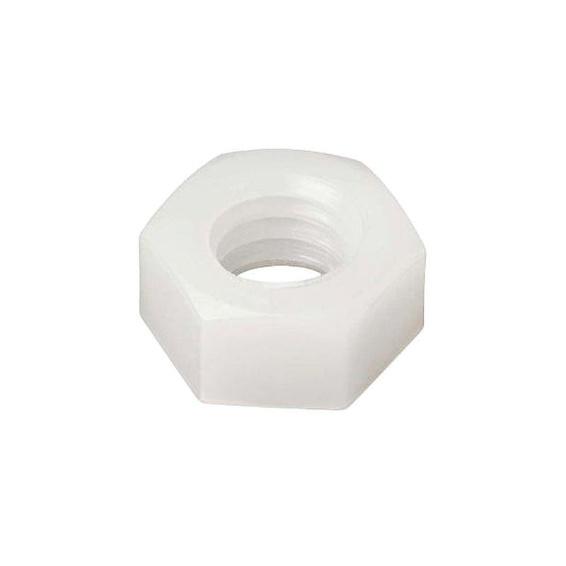 White nylon nut M3