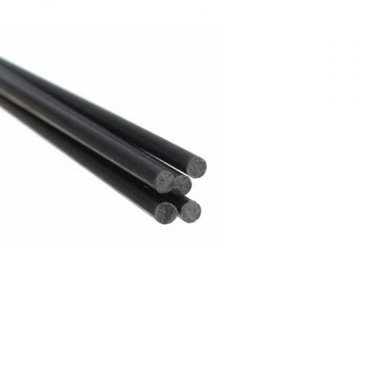 Pultruded Carbon Fibre Rod (Solid) 2mm * 1000mm (Pack of 4)
