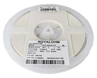 4.7K Ohm 110W 603 Resistor(Reel of 5000)