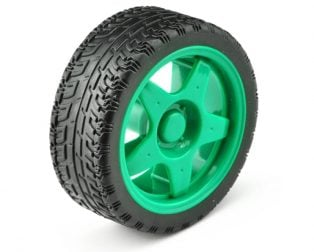 65mm Robot Smart Car Wheel for BO Motors (Green)