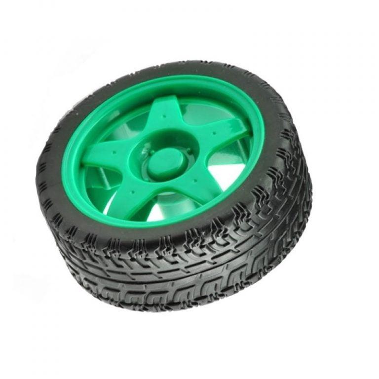 65mm Robot Smart Car Wheel for BO Motors (Green)
