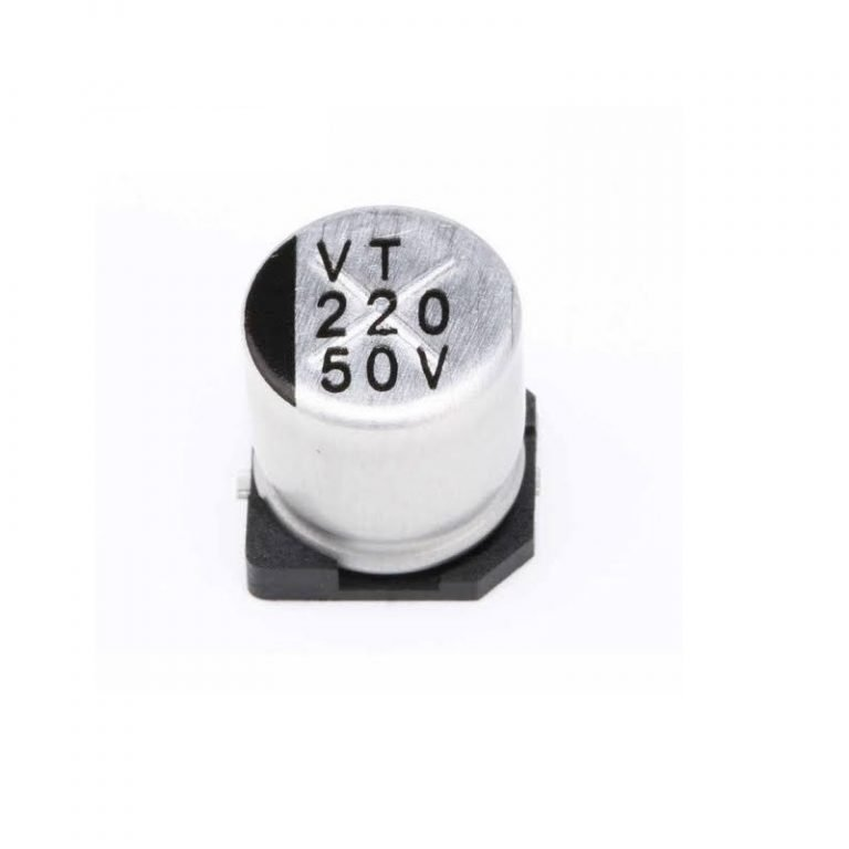 220uF 50V Surface Mount Electrolytic Capacitor