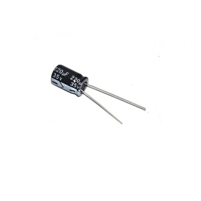 220uf 35V Through Hole 8x12 Electrolytic Capacitor