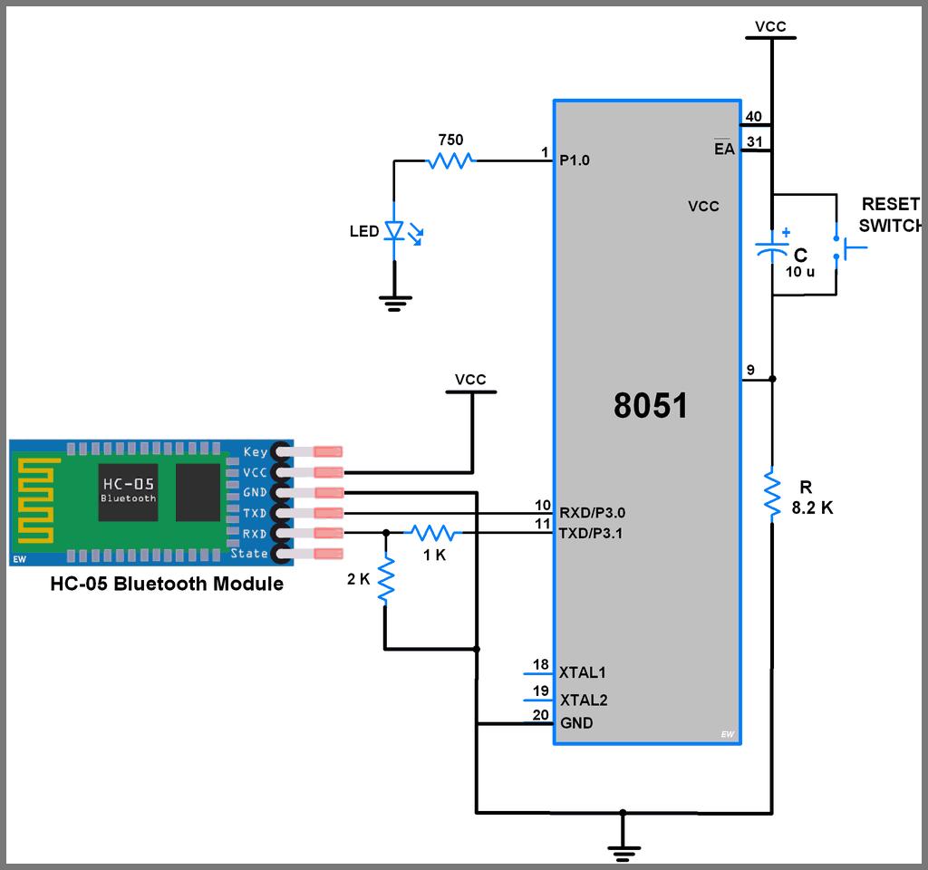 HC-05 Bluetooth Module Circuit Diagram
