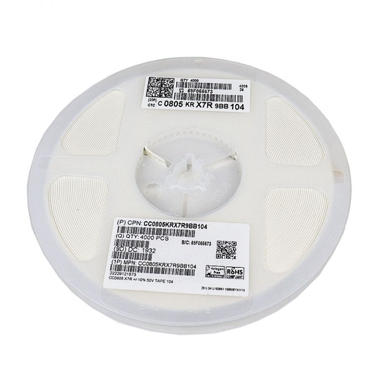 100nf 50v 805 MLCC Capacitor(Reel of 4000)