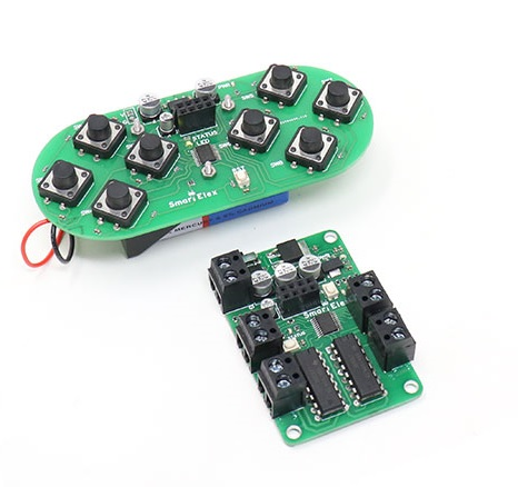 SmartElex wireless Remote control with L293D Motor driver.