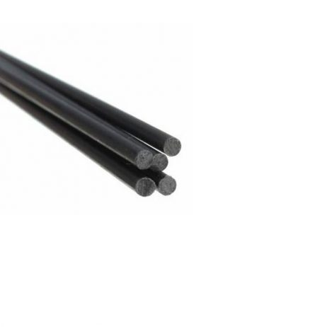 Pultruded Carbon Fibre Rod (Solid) 3mm * 1000mm (Pack of 4)