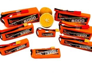Orange LiPO Battery