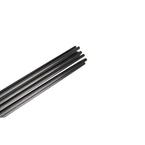 Pultruded Carbon Fibre Rod (Solid) 0.8mm * 1000mm (Pack of 4)