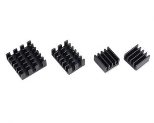 Black 4 in 1 Heat Sink Set Aluminum for Raspberry Pi 4B